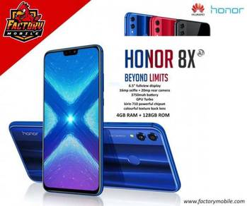 New Honor 8X [ 4+128GB ] Original MY Set