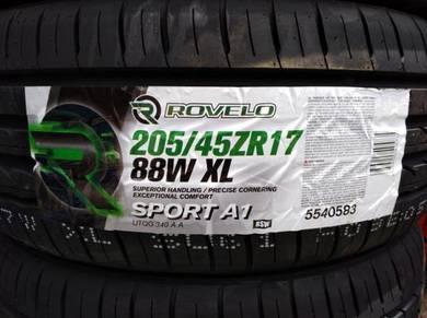 205/45/17 Rovelo Sport A1 Tyre 2019 Tayar