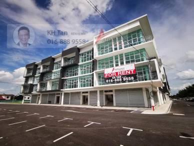 CORNER Galacity with LIFT facing Main Road Jalan Tun Jugah Airport