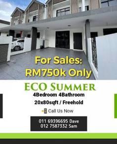 Double Storey Terrace House / Eco Summer / Setia Indah