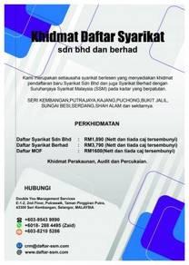 COMPANY REGISTRATION/DAFTAR SYARIKAT Sdn Bhd