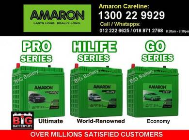 AMARON Car Battery Bateri NS40 Myvi Alza Axia CITY