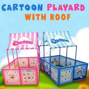 CArtoon playard with roof (pink or blue