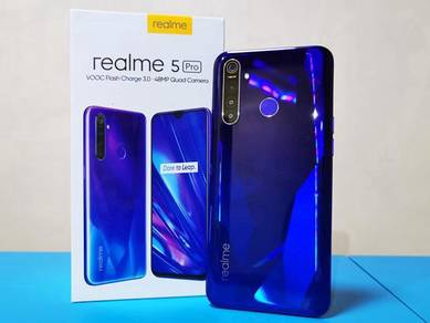 Realme 5 pro 8gb+128gb official malaysia set