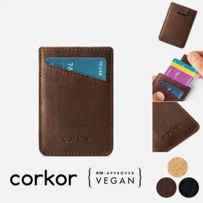 Corkor Vegan Cork Card Sleeve Wallet   Dompet