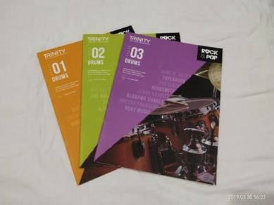 Original Trinity Drum Grade 1 to 3 Exam Books
