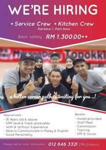 Service Crew & Kitchen Crew