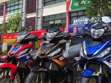 Honda rs150 v2 2021 rm0 6.6 sale mco motor murah