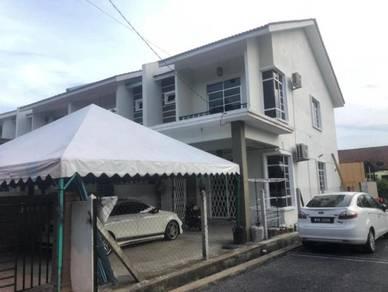 Rumah 2 tingkat end lot di Taman Cacar Murni, Paka untuk dijual