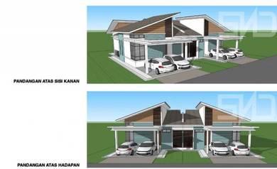 Rumah Semi-D Manir untuk dijual