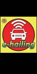 Pelekat Khas Kenderaan E-hailing (sticker cermin)