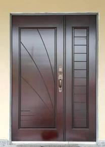 Pintu Kayu Solid Padi/Galis NEW Design Terbaru