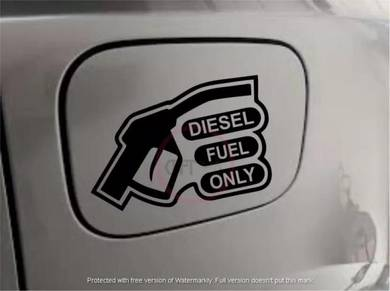 CFS41 Empty Fuel Cap Diesel Ron 97 95 Only Stiker