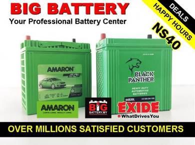 MYVI ALZA CAR BATTERY EXIDE AMARON Bateri NS40