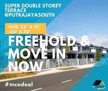 Rumah Teres Hybrid& Double Storey house Kota Putrajaya South Warisan