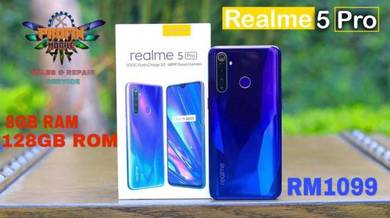 Realme 5 pro 8gb+128gb official malaysia set