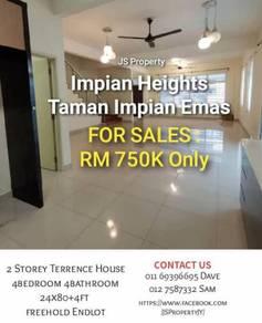 Double Storey Terrace House / Bukit Impian / Skudai / Kempas