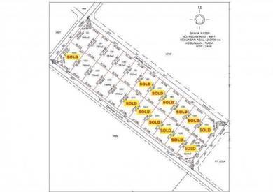 Tanah Lot besar comel 766mp Ajil Kuala Berang Lulus MDHL Untuk Rumah