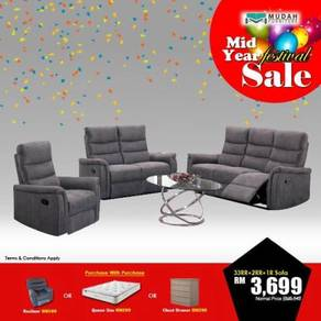 3rr+2rr+1recliner fabric sofa