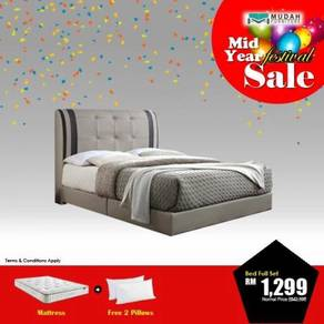 5f bedframe +10 inch mattress free 2 pillow
