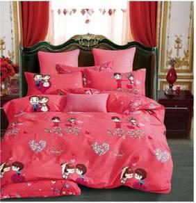 Cadar Comforter 100% Cotton Bedsheet - W 04