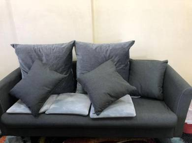 2 Seater & 3 Seater Second-Hand Couch (Grey Color)