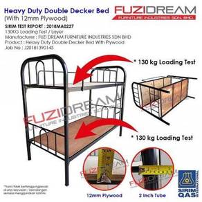 NEW : Double decker metal bed & katil asrama BARU