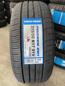 New tyre Toyo Proxes CR1 215/50/17 2021 wish altis