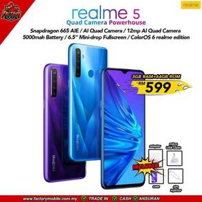 New Realme battery 5000mah 4 rear camera My Set