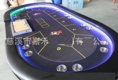Poker table texas led light desk big holdem meja 1