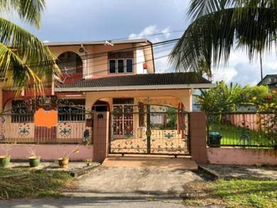 Double storey semi D house at Lorong Stampin 23D1A for sale