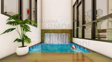 Teres kota bharu rekabentuk 2 tingkat bersama swimming pool