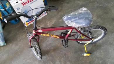 """Basikal 16"""" merah tayar angin bicycle"""