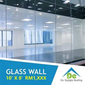 Glass Wall Shop Front Tempered Glass Door M'sia