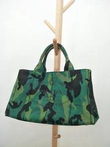 Authentic Prada Camouflage Canape Large Tote Bag