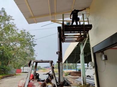Servis Wiring Elektrik Elektrikal Bracket TV Lampu