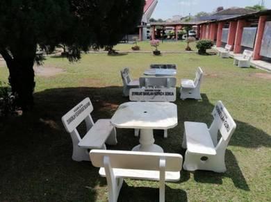 Kerusi, meja batu Wakaf Warisan.cantik, berkualiti