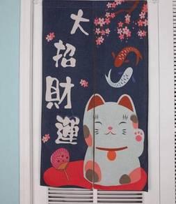 Japanese Chinese Door curtain FREE Adjustable Rod