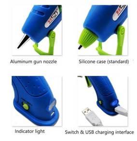 Cordless Rechargeable 15W Li-Ion Hot Melt Glue Gun
