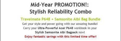 Acer Mid-Year Promotion! Stylish Reliability Combo