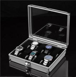 Aluminium Watch 12 Slot Case Storage Box Watches