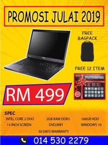 Laptop Dell Pakej BagPack baru dan Freegift Baru