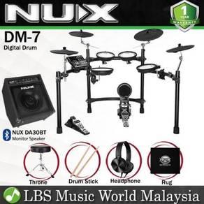 NUX DM-7 5-Piece Digital Electronic Drum Set