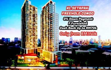 KL Setapak Place FREEHOLD 0 Downpayment Fully Furnished CASHBACK 70K