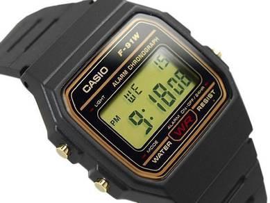Watch - Casio Alarm LED LIGHT F91WG - ORIGINAL