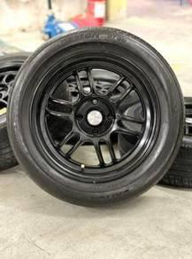 Rpf1 15 inch sport rim Myvi tyre 70%