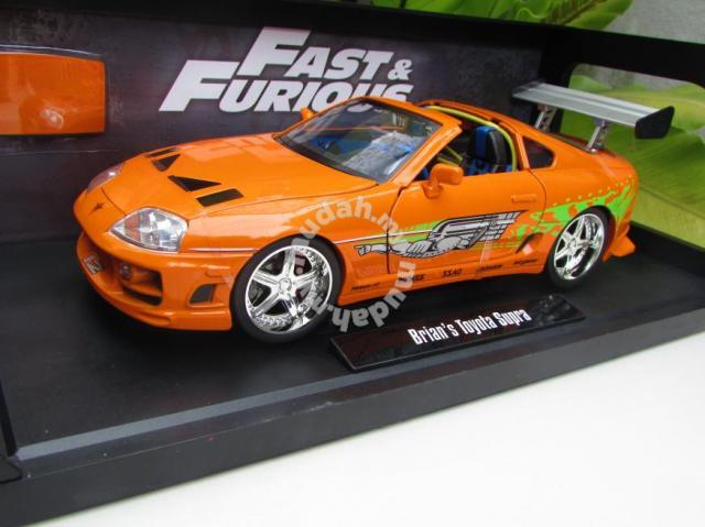 fast furious 1 18 brian 39 s toyota supra orange hobby collectibles for sale in ampang selangor. Black Bedroom Furniture Sets. Home Design Ideas