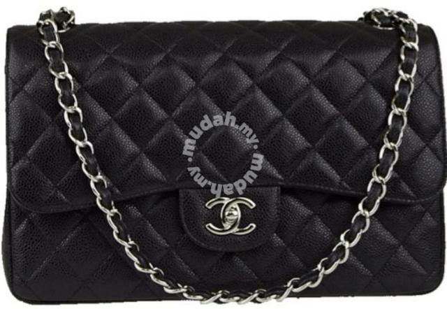 03fd6a87d686 Chanel jumbo leather black caviar silver chain - Bags   Wallets for ...