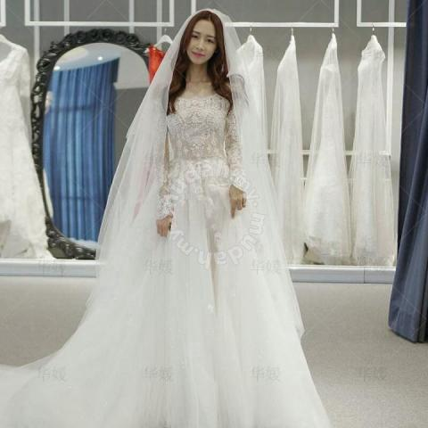 ebd132bf02 White dinner prom dress wedding bridal gown RB0104 - Wedding for sale in Johor  Bahru