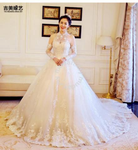 94e37e8050 White dinner prom dress wedding bridal gown RB0108 - Wedding for sale in Johor  Bahru